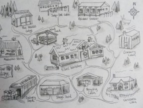 A map of Elf Town