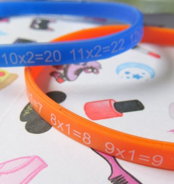 Times Tables wristbands